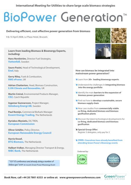 International Meeting for Utilities to share large scale biomass ...