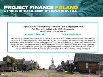 Samorząd i biznes na jednym wózku - Project Finance Poland