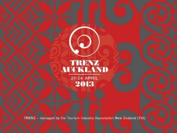TRENZ 2013 - Traditional Market Trends - Tourism New Zealand