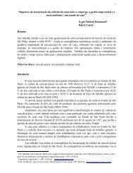 """""""Impactos da mecanização da colheita da cana ... - Sucre Ethique"""