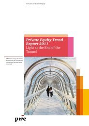 Private Equity Trend Report 2011 Light at the End of the Tunnel