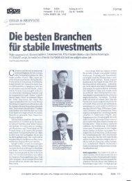 Die besten Branchen für stabile Investments - VAIÖ