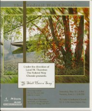 Ye Shall Have a Song - Federal Way Chorale