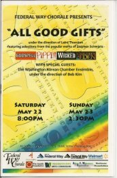 Good Gifts - Federal Way Chorale