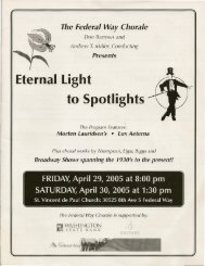 Eternal Light to Spotlights - Federal Way Chorale
