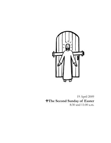 +The Second Sunday of Easter - Phinney Ridge Lutheran Church