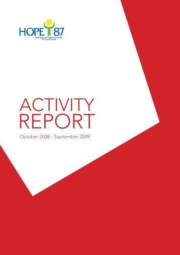Activity Report 2009 - HOPE'87