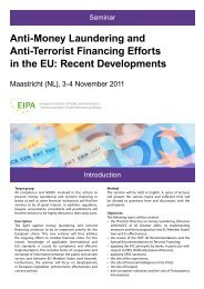 Anti-Money Laundering and Anti-Terrorist Financing Efforts in the EU