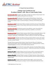President Obama's 100+ Days of Anti-Family Policy - FRC Action
