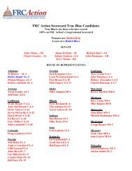 True Blue Candidates - FRC Action