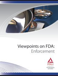 Viewpoints on FDA: Enforcement - Food and Drug Law Institute