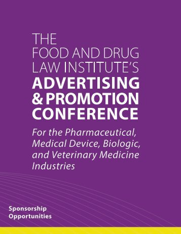 A&P Sponsorship Packet - Food and Drug Law Institute