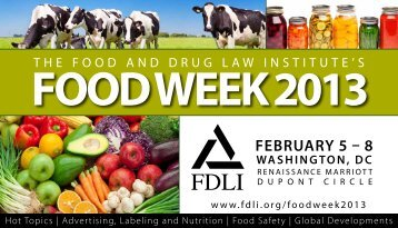Conference Brochure - Food and Drug Law Institute