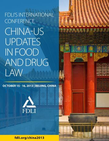download brochure - Food and Drug Law Institute