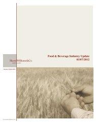 Food & Beverage Industry Update 03/07/2012 - Harris Williams & Co.