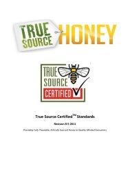 Revision 8-5-2011 - True Source Honey