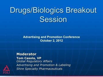 Panel Slides - Food and Drug Law Institute