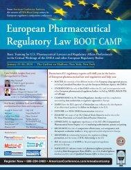 European Pharmaceutical Regulatory Law BOOT CAMP - Bristows