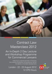 Contract Law Masterclass 2012 - Bristows