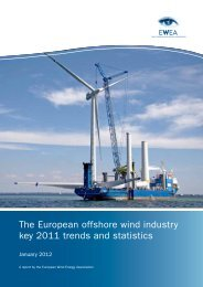 The European offshore wind industry key 2011 trends and ... - Gamesa