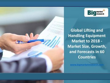 2018 Global Lifting and Handling Equipment Market Analysis