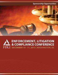 2013 Sponsorship Packet - Food and Drug Law Institute