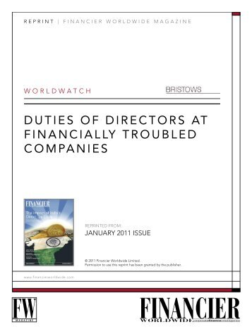 The responsibilities and duties of a company director