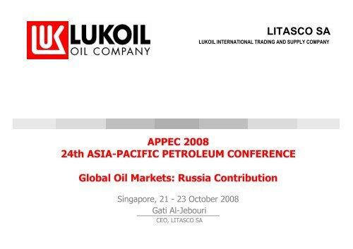 GLOBAL Oil markets: Russia Contribution - LITASCO Group