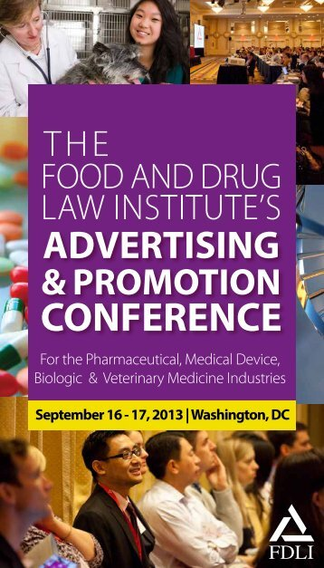 P 2013 Brochure_web-1 - Food and Drug Law Institute