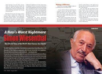 A Nazi's Worst Nightmare - Simon Wiesenthal - ZMAN Magazine