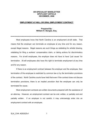 Standard Employment Contract Contract Of Employment Form Sample
