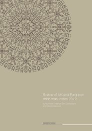 Review of UK and European trade mark cases 2012 - Bristows