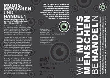 Flyer zur Ausstellung - MultiWatch