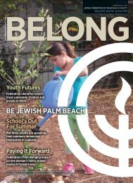 August 2013 Issue - The Jewish Federation of Palm Beach County