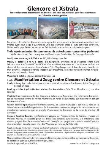 Manifestation à Zoug contre Glencore et Xstrata - MultiWatch