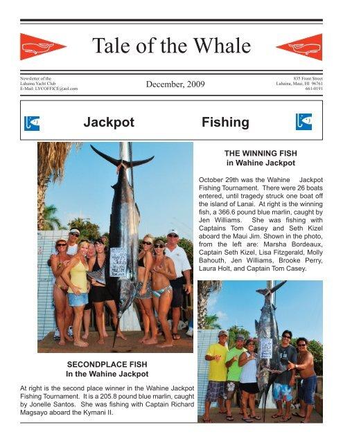 Halloween Fishing Torument 2020 Lahaina Nov.3 Tale of the Whale   Lahaina Yacht Club