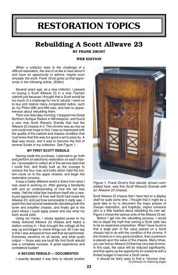 Rebuilding a Scott Allwave 23 - Antique Radio Classified