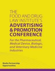 Media Partnership Opportunities - Food and Drug Law Institute