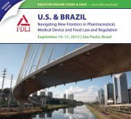 U.S. & BRAZIL - Food and Drug Law Institute