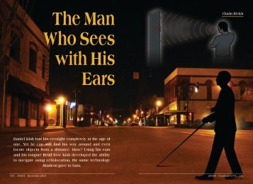 The Man Who Sees with His Ears - ZMAN Magazine