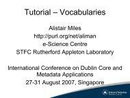 Tutorial – Vocabularies - Dublin Core® Metadata Initiative