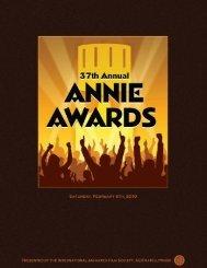 Annie Awards Program Book