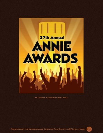 Annie Awards Program Book