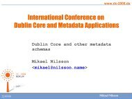 Tutorial 3 - Dublin Core® Metadata Initiative