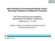 Slides (Revised 9/13/13) - Food and Drug Law Institute