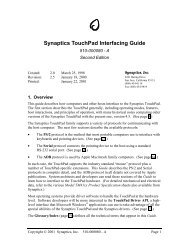 Synaptics Touchpad Interfacing Guide