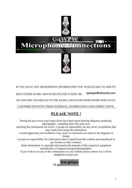 [DIAGRAM_4FR]  PLEASE NOTE !kenwood - REF93 - Free | Kenwood Kmc 41 Microphone Wiring Diagram |  | Yumpu