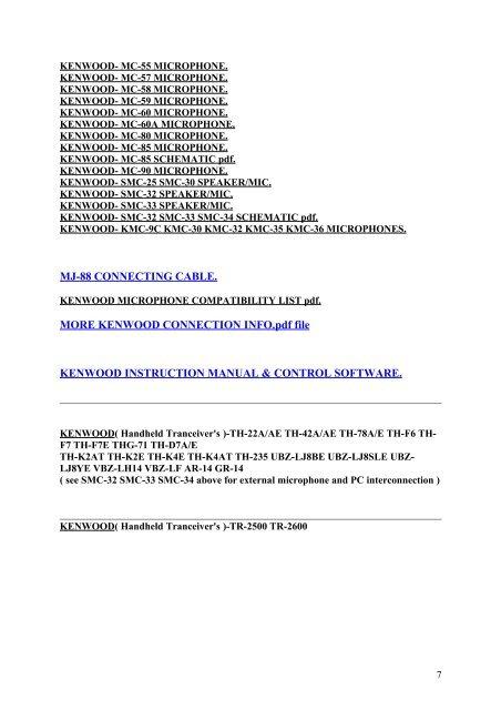 please note !kenwood - ref93 - free