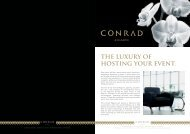 THE LUXURY OF HOSTING YOUR EVENT. - Hilton