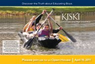 Please join us for an Open House April 15, 2011 - The Kiski School